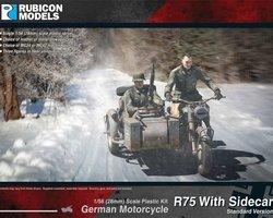 German motorcycle R75 with sidecar