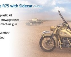 German motorcycle R75 with sidecar Africa